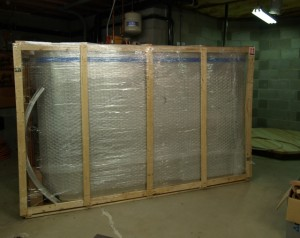 Tank still in its shipping crate